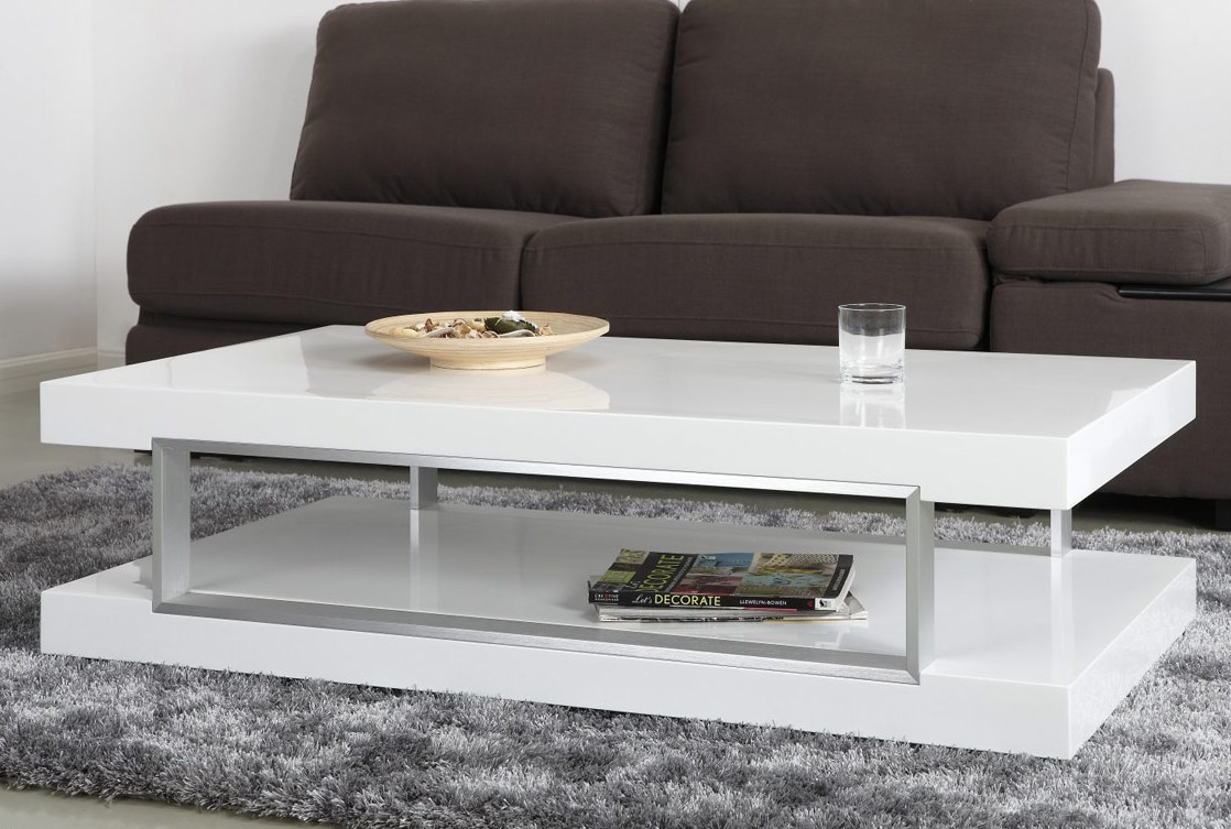 Extra White Rectangular Coffee Table