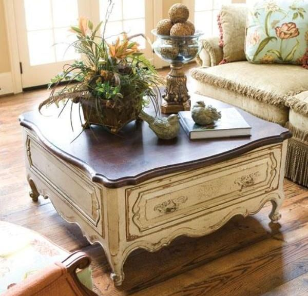 Fantastic French Country Style Coffee Table Coffee Tables Ncnpc Chair Design For Home Ncnpcorg