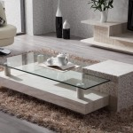 Idea of Travertine Coffee Table