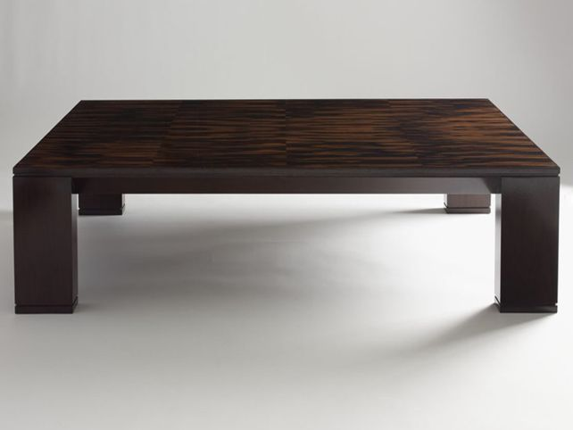 Large Dark Wood Coffee Table