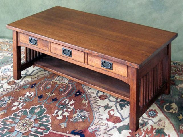 mission style coffee table Mission Style Coffee Table With Drawers | Coffee Tables mission style coffee table