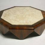 Octagonal Travertine Coffee Table