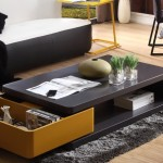 Rectangular Coffee Table with Original Drawer