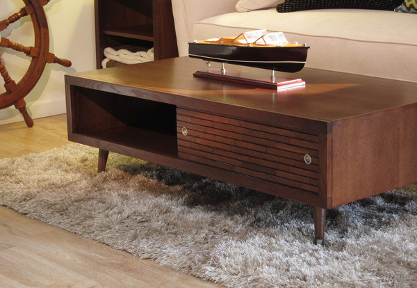 Retro Coffee Table with Tiny Legs