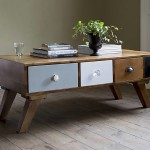 Retro Multi Drawer Coffee Table
