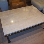 Simple Travertine Coffee Table