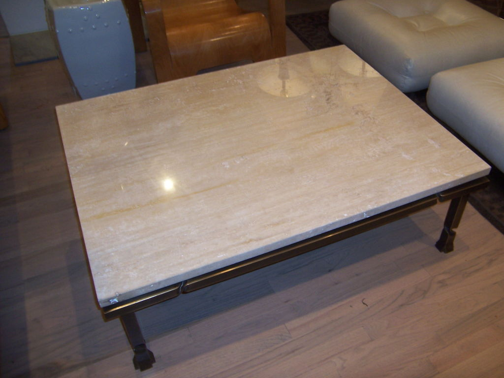 Simple Travertine Coffee Table Image And Description