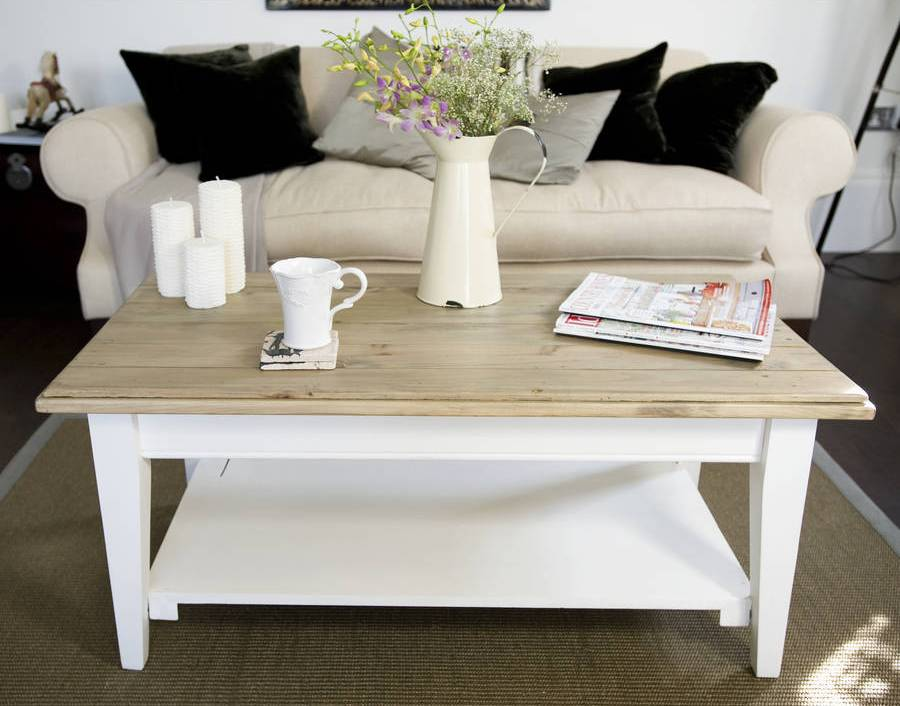 White French Country Coffee Table Tables - French Country Coffee Tables CoffeTable