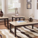 Travertine Coffee Table Set