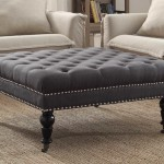 Tufted Ottoman Coffee Table Sophisticated Design