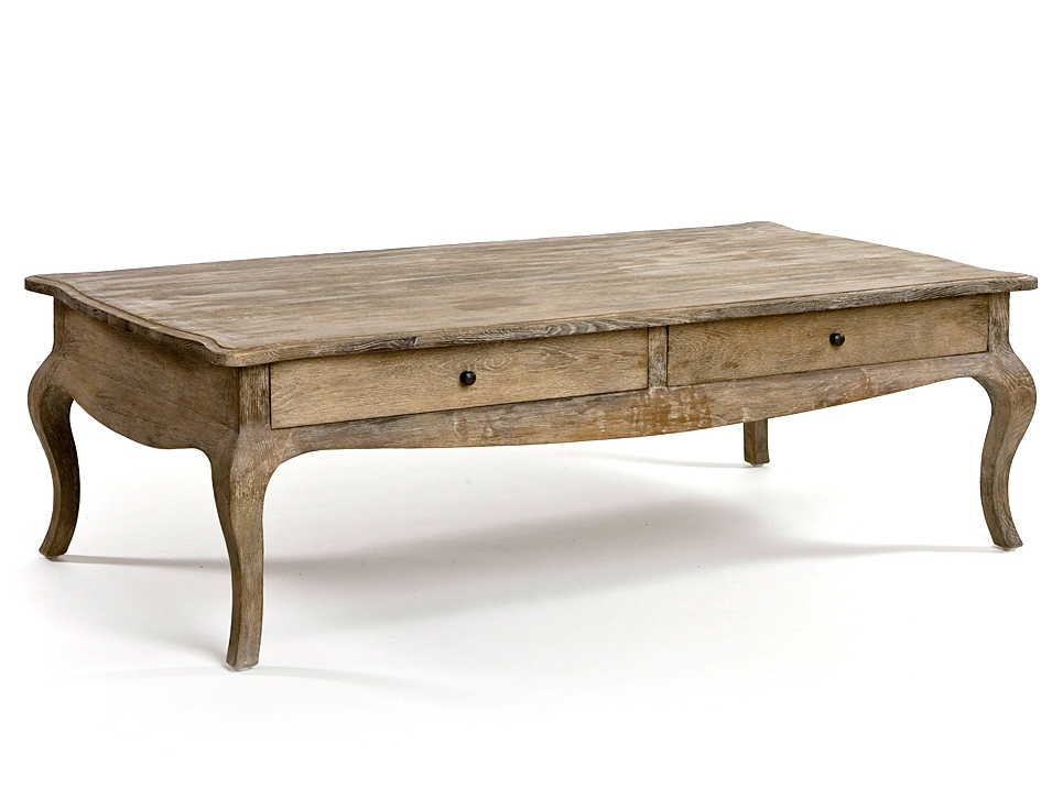 Weathered Wood French Country Coffee Table