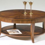 Wooden Circular Coffee Table