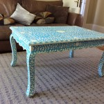 Blue Coffee Table Decor