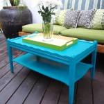 Blue Coffee Table With Tray