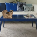 Elegant Blue Coffee Table