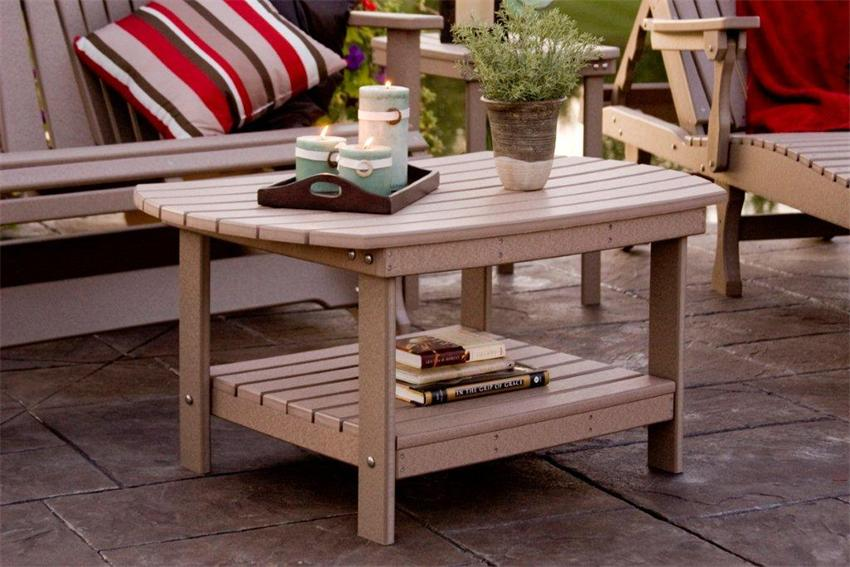Fitting Patio Coffee Table