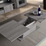 Grey Coffee Table with Sliding Top