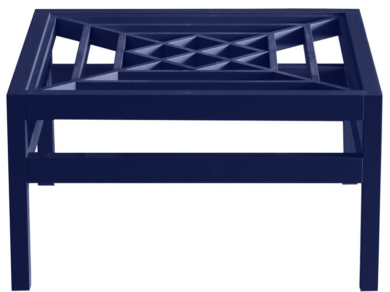 Lacquer Blue Coffee Table