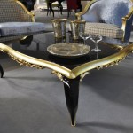 Luxury Coffee Table with Golden Contour