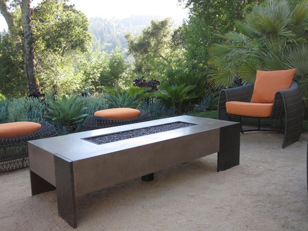 Massive Patio Coffee Table With Fire Pit