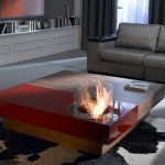 Modern Coffee Table with Small Fireplace