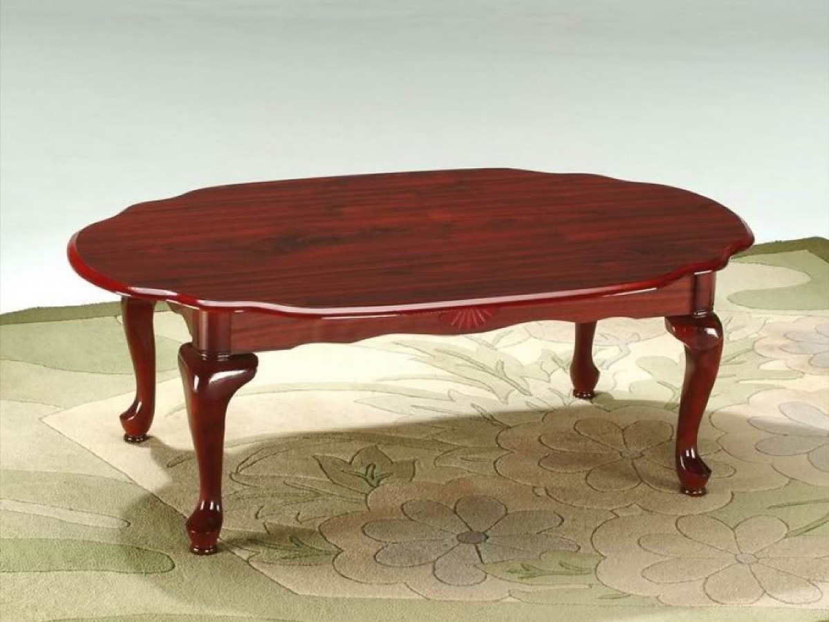 Oval Redwood Coffee Table Image And Description