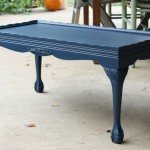 Painted Dark Blue Coffee Table