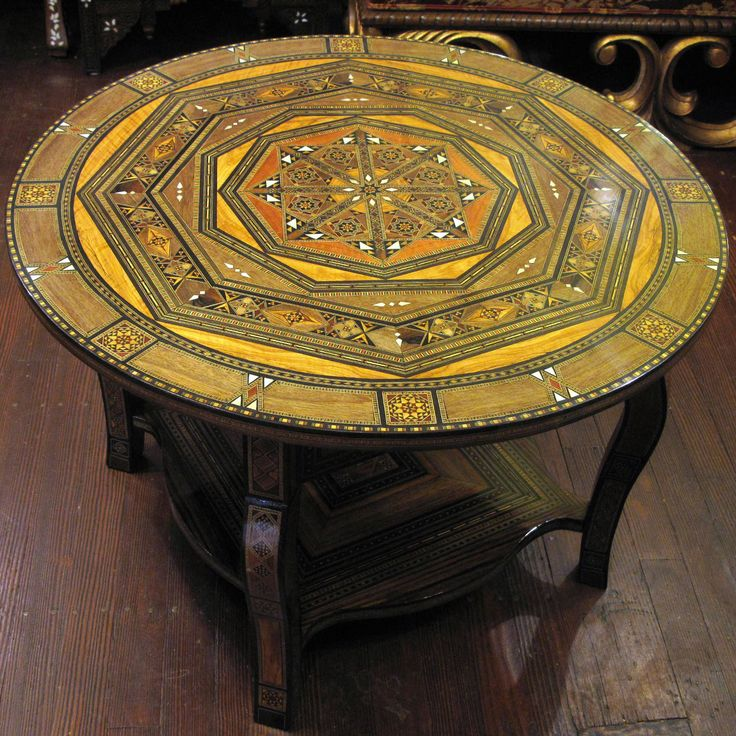 Painted Moroccan Coffee Table