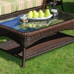 Rattan Patio Coffee Table