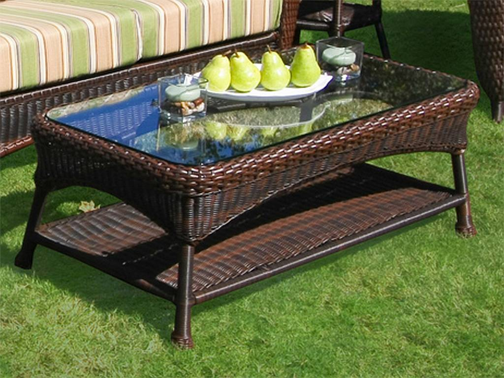 Rattan Patio Coffee Table Image And Description