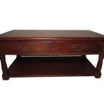 Redwood Coffee Table with Drawers