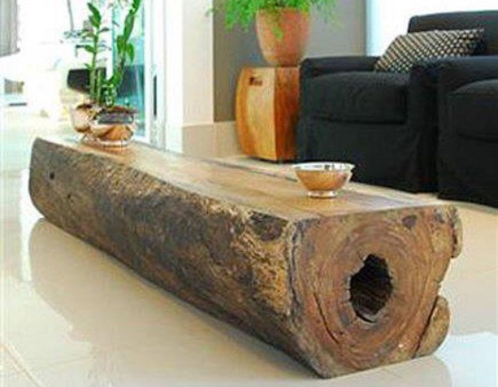 Single Log Coffee Table