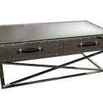 Steel Coffee Table With Hidden Storage