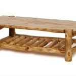 Stylish Log Coffee Table