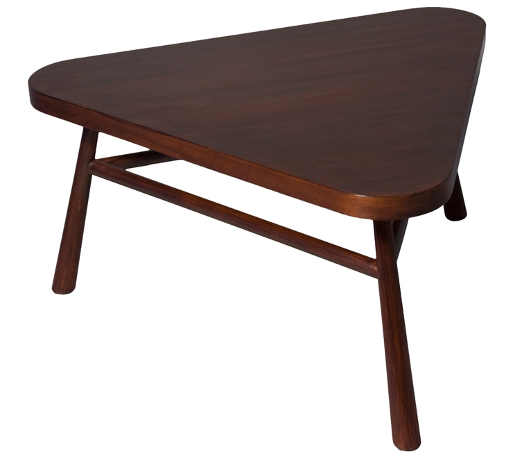 Triangle Redwood Coffee Table