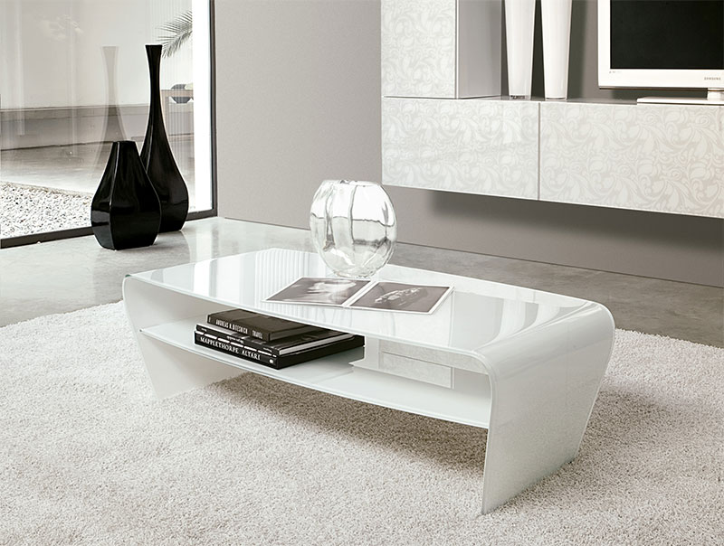 White Modern Coffee Table Tables