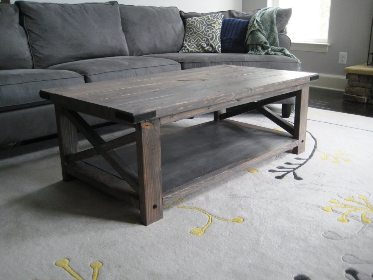 Wooden Grey Coffee Table Image And Description