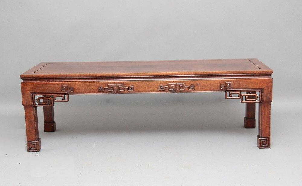 Chinese Coffee Table With Metal Accents