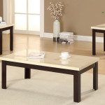 Cream Coffee Table Set