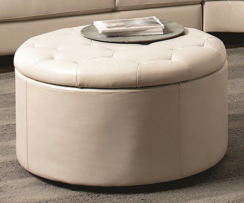Cream Pouf Coffee Table