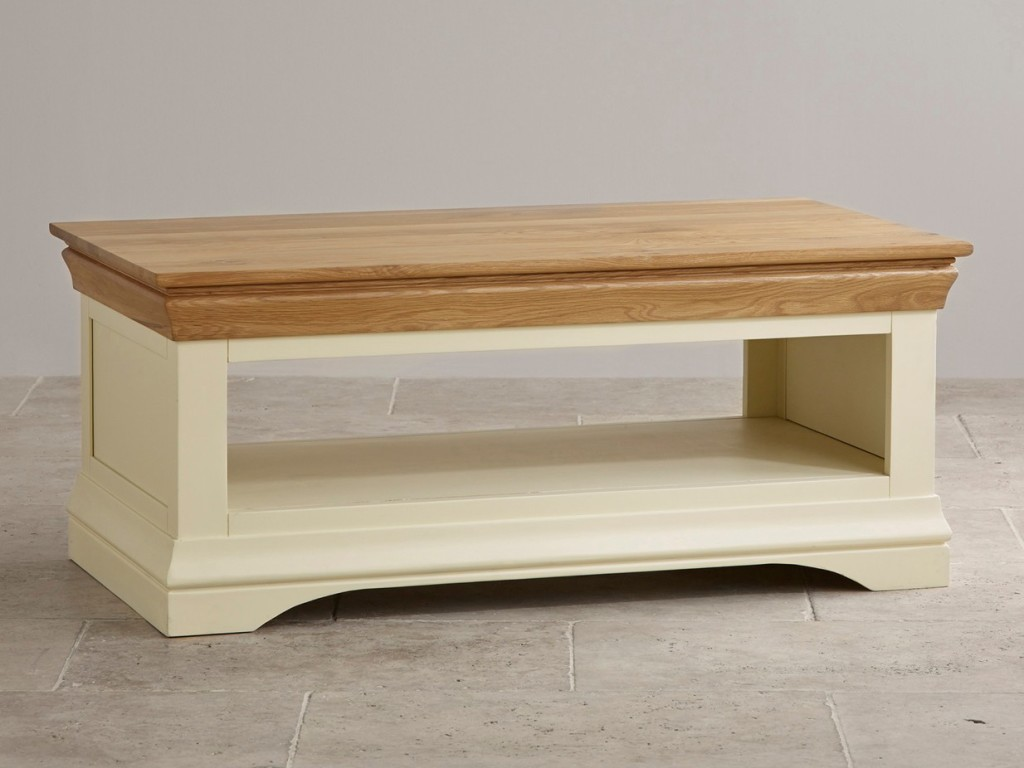 Narrow Cream Coffee Table