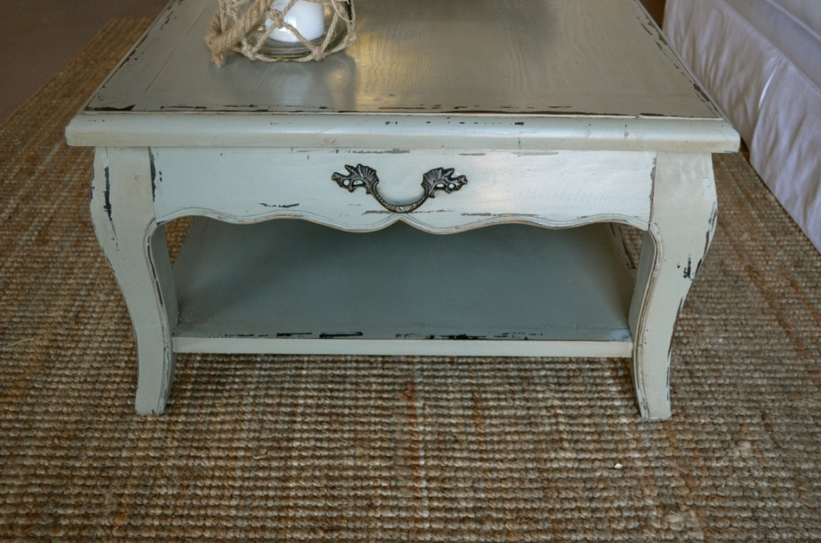 Shabby Chic Coffee Table With Open Shelf