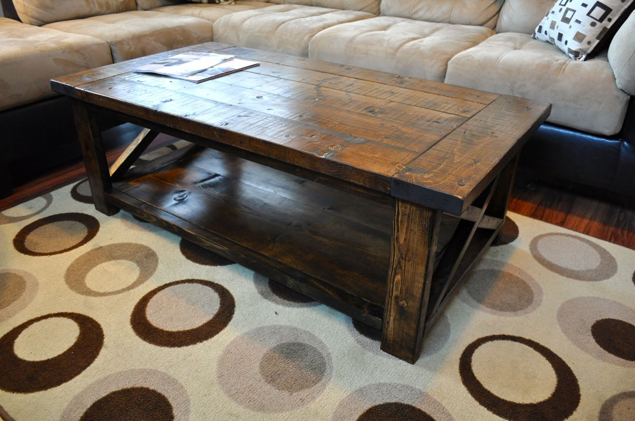 Farmhouse Coffee Table Rustic Style