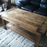 Farmhouse Coffee Table With Open Shelf