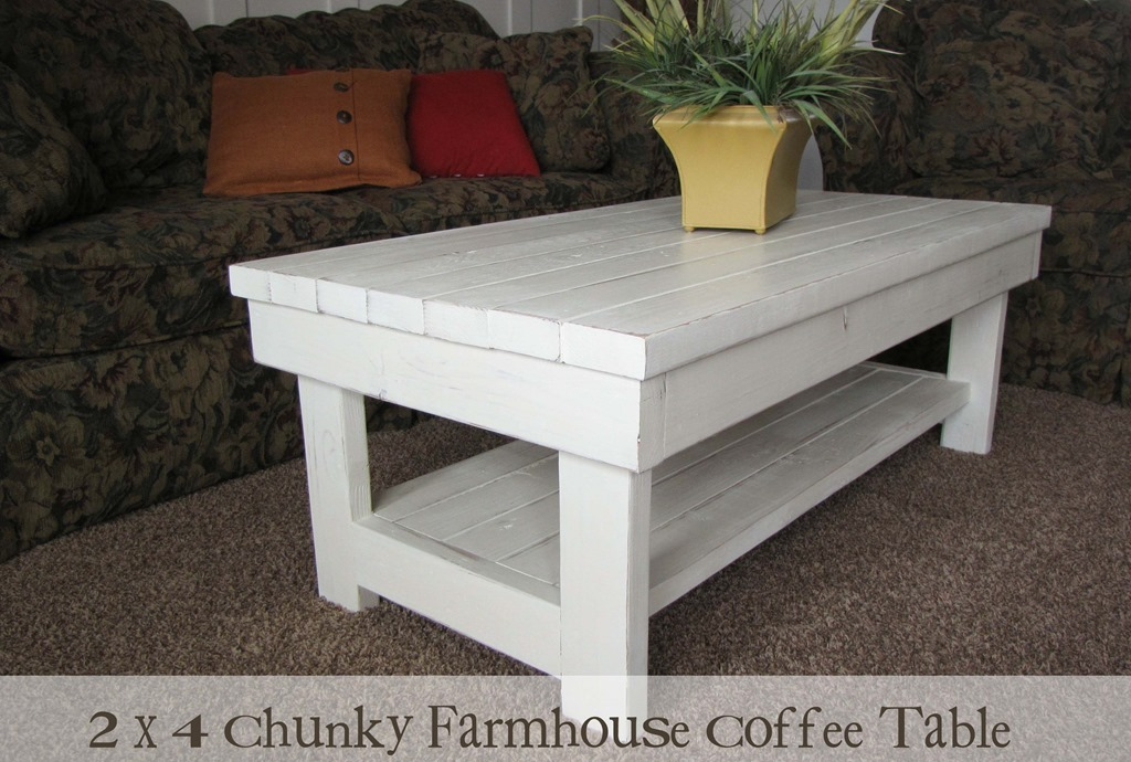 Painted Farmhouse Coffee Table