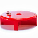 Red Plastic Coffee Table
