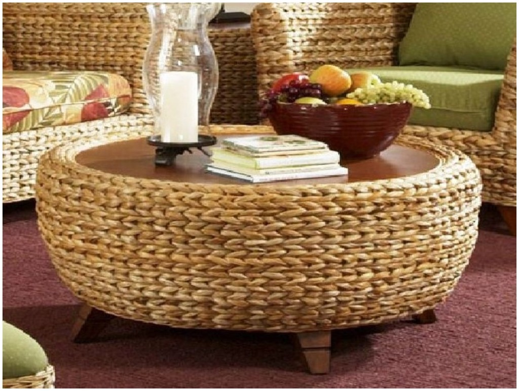 Unique Round Seagrass Coffee Table | Coffee Tables UD62