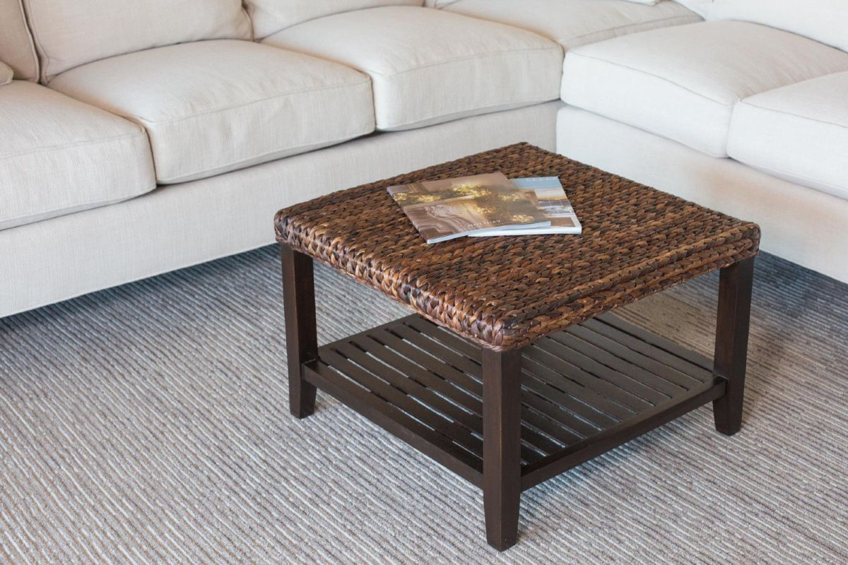 Seagrass Coffee Table With Shelf