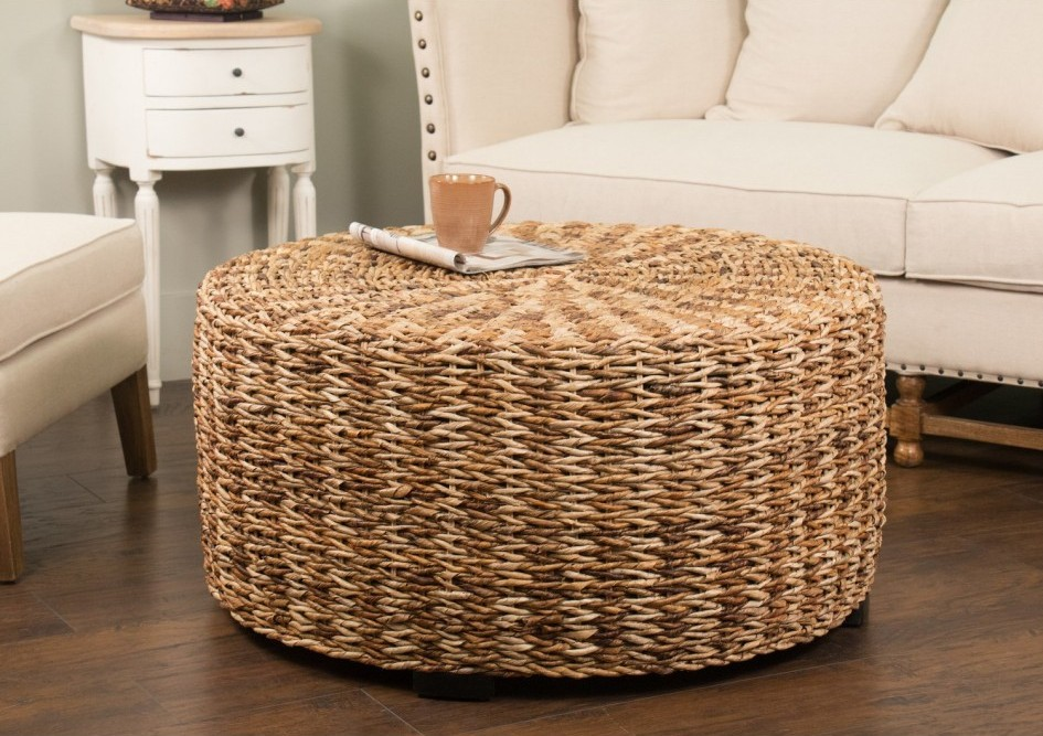 Seagrass Drum Coffee Table