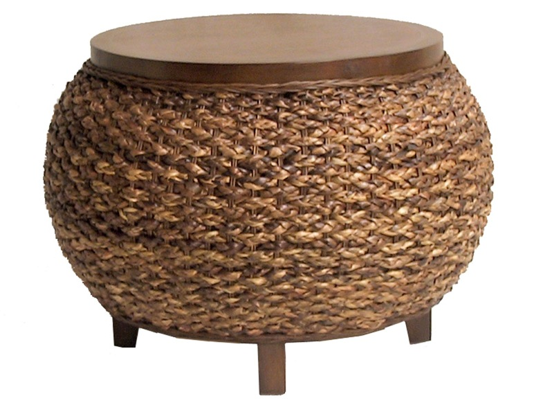 Small Seagrass Coffee Table Coffee Tables